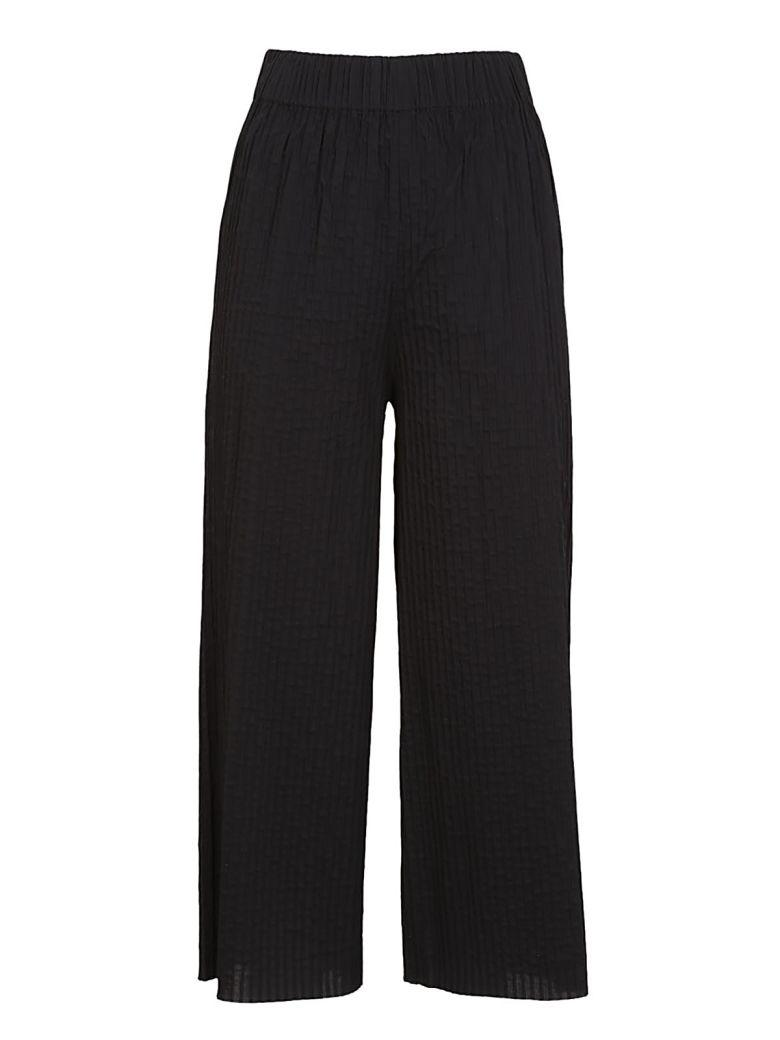 Federica Tosi Textured High-waist Trousers In Black