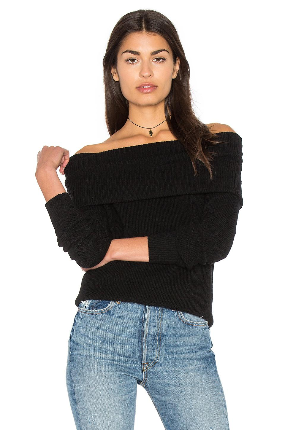Michael Stars Off The Shoulder Tunic In Black