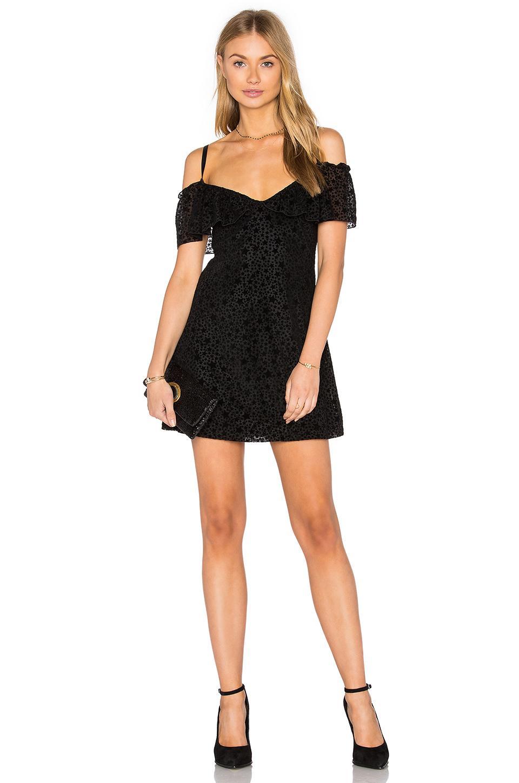 Motel Erika Slip Dress In Black