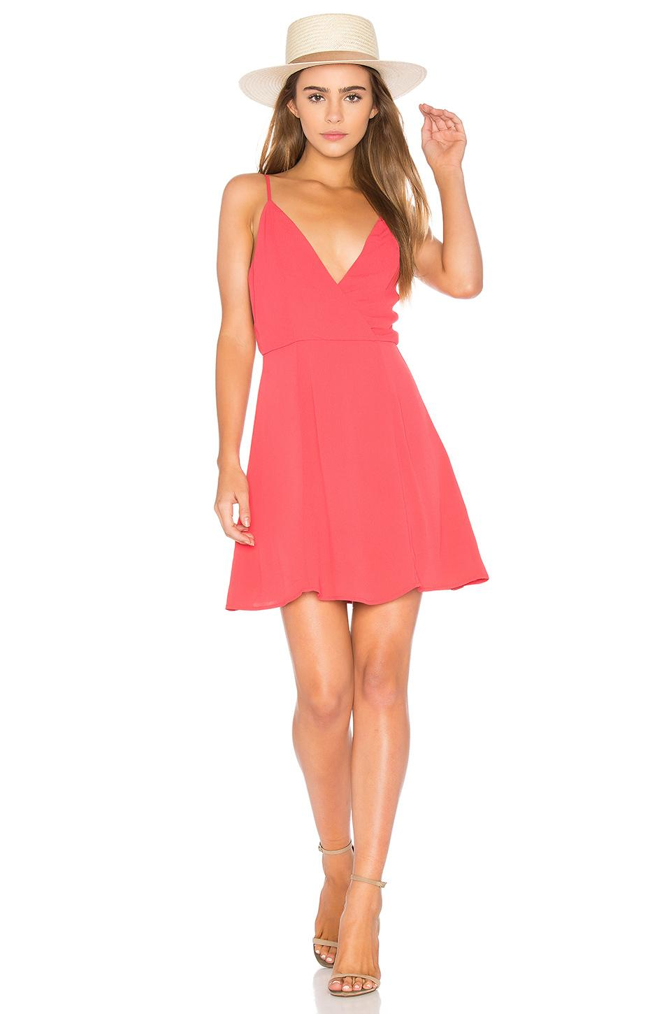 Privacy Please Alida Dress In Coral