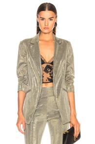 Michelle Mason Boxy Blazer In Metallics