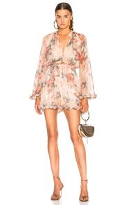 Zimmermann Sunny Playsuit In Neutral