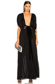 Valentino Plunging Gown In Black
