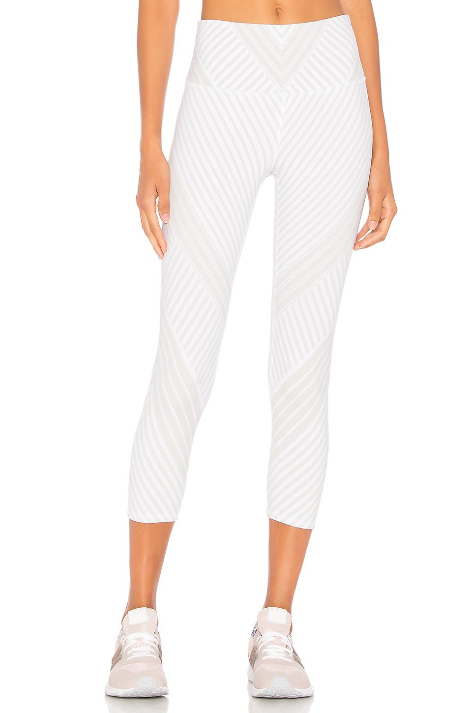 Alo Yoga High Waist Airbrush Capri In White