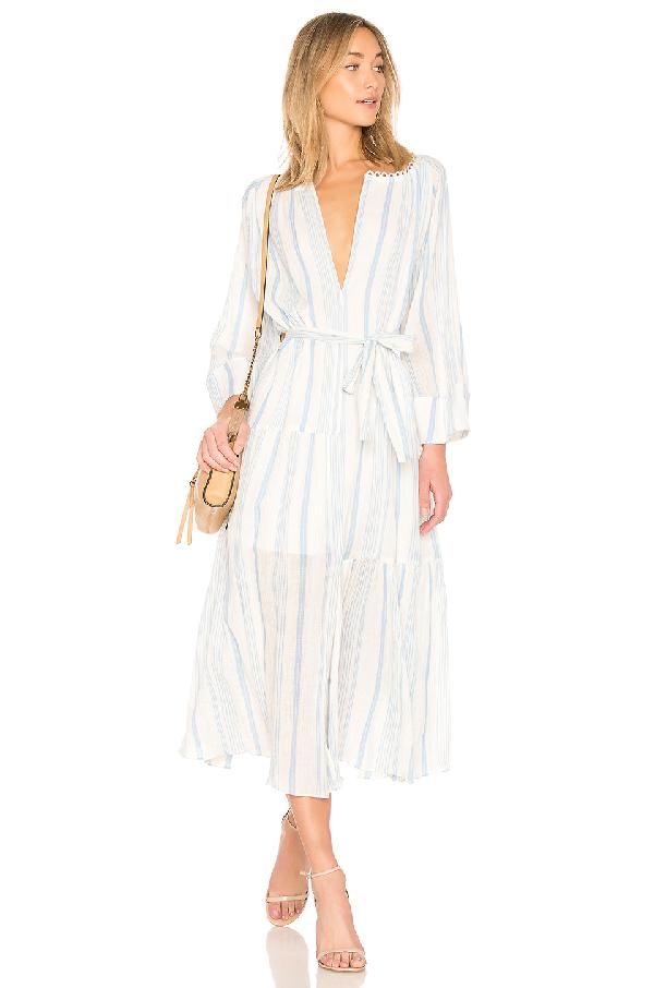 Apiece Apart Stella Striped Cotton Dress In Gitane Stripe