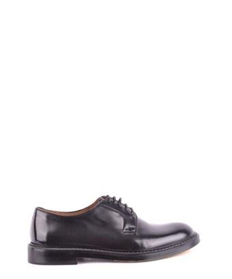 Doucal's Men's  Black Leather Lace-up Shoes