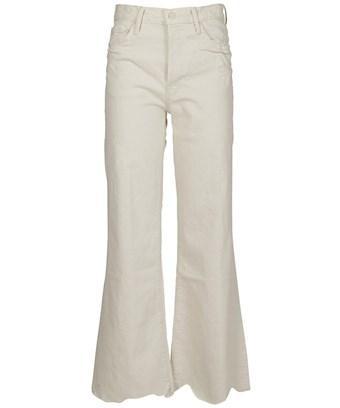 Mother Women's  White Cotton Pants