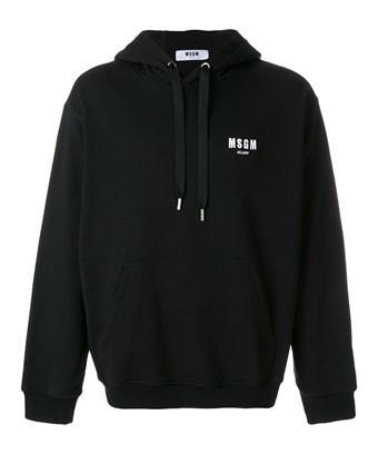 Msgm Men's  Black Cotton Sweatshirt