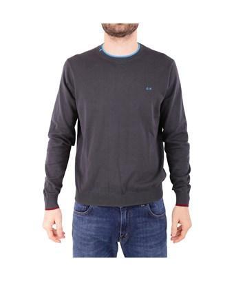 Sun 68 Men's  Green Cotton Sweater