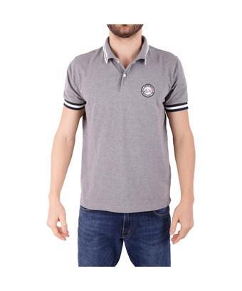 Sun 68 Men's  Grey Cotton Polo Shirt