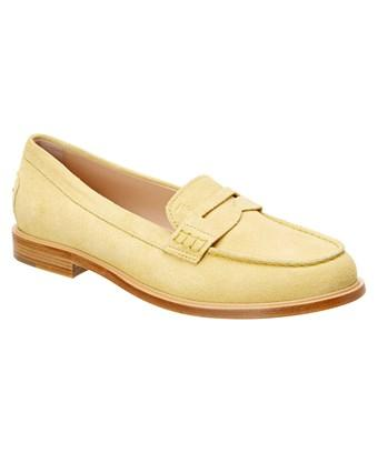 Tod's Suede Moccasin In Yellow