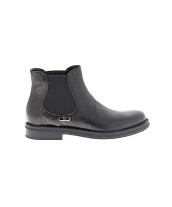 Fabi Women's  Black Leather Ankle Boots