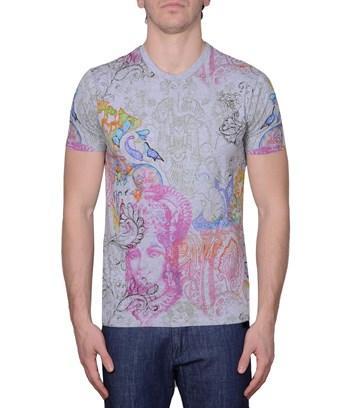 Etro Men's  Grey Cotton T-shirt