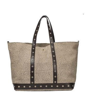 Borbonese Women's  Brown Leather Tote