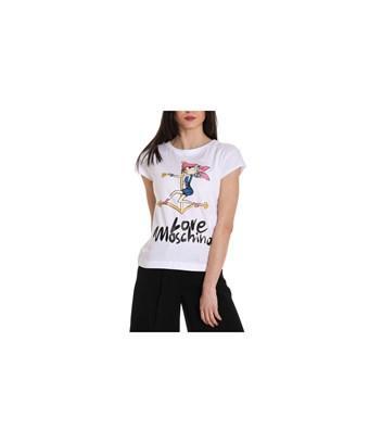 Love Moschino Women's  White Cotton T-shirt