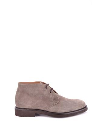 Doucal's Men's  Grey Suede Ankle Boots