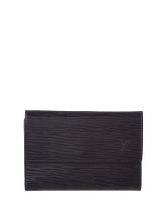 Louis Vuitton Black Epi Leather Porte Tresor Wallet In Nocolor