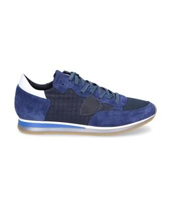 Philippe Model Men's  Blue Suede Sneakers
