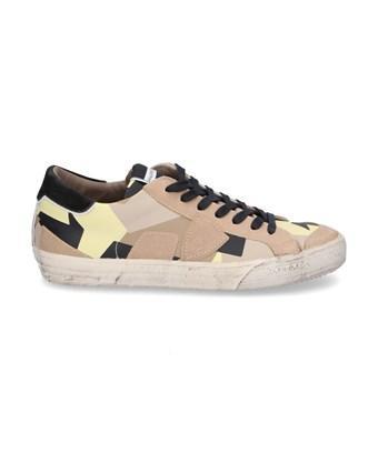 Philippe Model Men's  Beige Leather Sneakers In Brown