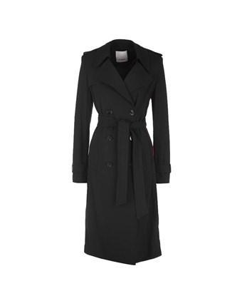 Pinko Women's  Black Viscose Coat