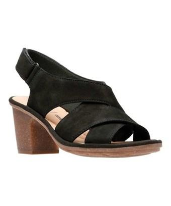 Clarks Women's   Sashlin Nolte Slingback In Black Nubuck