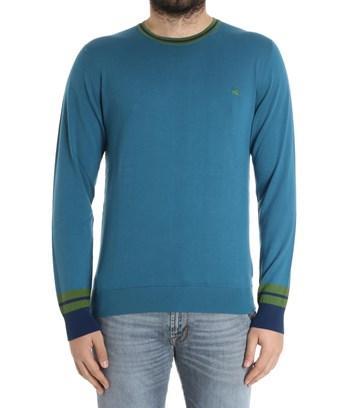 Etro Men's  Blue Cotton Sweater