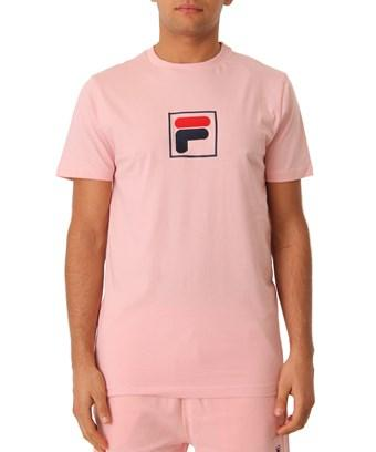 Fila Men's  Pink Cotton T-shirt