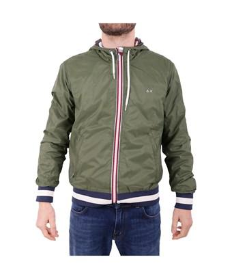 Sun 68 Men's  Green Polyester Outerwear Jacket