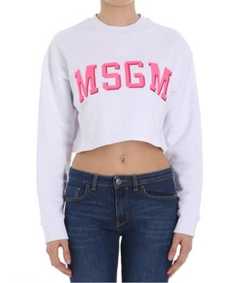 Msgm Women's  White Cotton Sweatshirt
