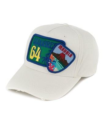 Dsquared2 Men's  White Cotton Hat