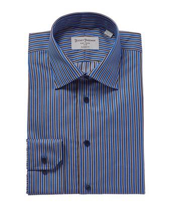 Hickey Freeman Classic Fit Dress Shirt In Blue