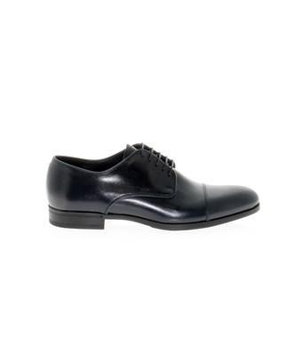 Fabi Men's  Blue Leather Lace-up Shoes