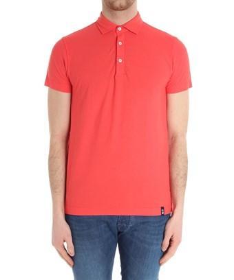 Drumohr Men's  Red Cotton Polo Shirt