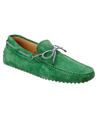 Tod's Gommino Suede Driving Shoe In Green