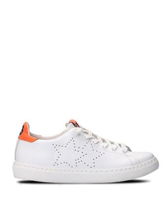 2star Women's  White Leather Sneakers