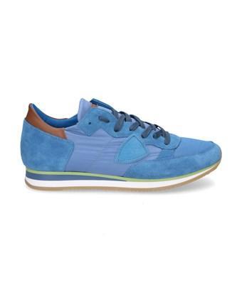 Philippe Model Men's  Light Blue Suede Sneakers