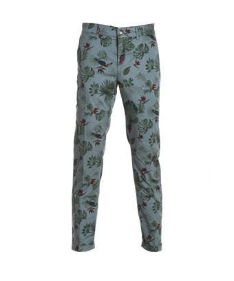 Jeckerson Men's  Green Cotton Pants