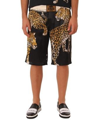 Dolce & Gabbana Dolce E Gabbana Men's  Black Silk Shorts