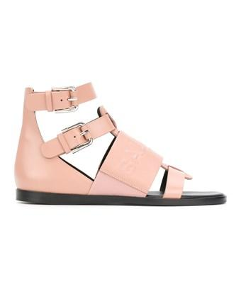 Balmain Women's  Pink Leather Sandals