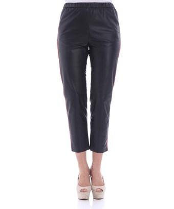 Drome Women's  Black Leather Pants