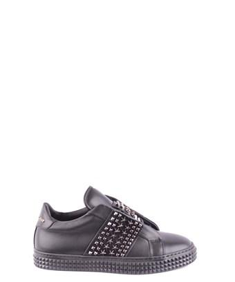 Philipp Plein Women's  Black Leather Sneakers