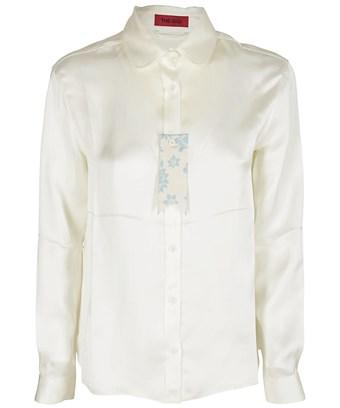 The Gigi Women's  White Viscose Shirt