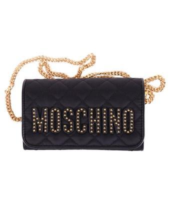 Moschino Women's  Black Leather Clutch