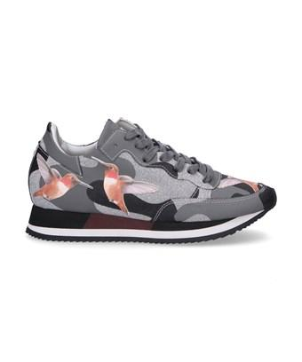 Philippe Model Women's  Grey Leather Sneakers