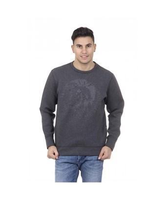 Diesel Men's  Grey Polyester Sweatshirt
