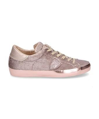 Philippe Model Women's  Bronze Leather Sneakers In Brown