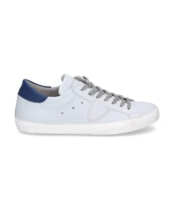 Philippe Model Men's  Grey Leather Sneakers