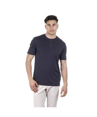 Armani Collezioni Men's  Blue Cotton T-shirt