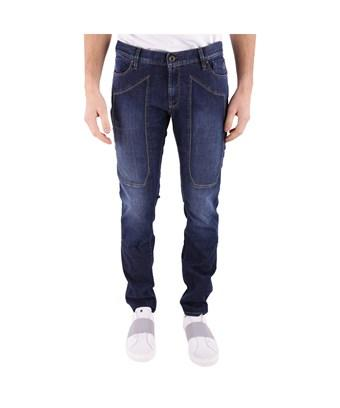 Jeckerson Men's  Blue Cotton Jeans