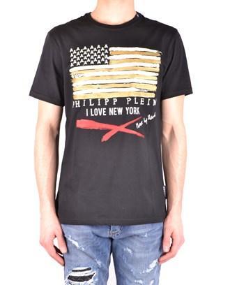 Philipp Plein Men's  Black Cotton T-shirt